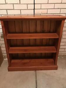 Solid timber Oregon bookcase Caringbah Sutherland Area Preview