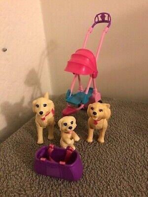 Mattel Vintage 1980s Barbie Accessory Strolling Pups Dog Stroller Set RARE