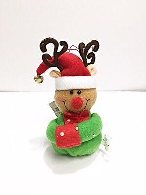 Brand New Reindeer Boy Plush Ornament Christmas Ornament Home Decor