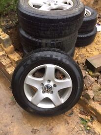 """VW 17"""" Alloy Wheels, Used condition, a few marks, comes with tyres which have lots of tread left"""