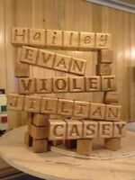 custom made block names  and RV camper signs