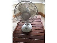 Two-speed oscillating desk fan. Perfect working order