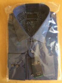 Next Signature Long Sleeve Men's Shirt, Size 17.5, Regular Fit