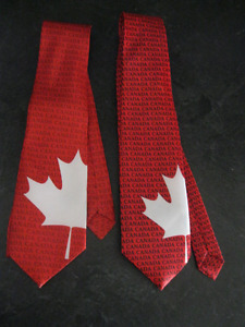2 CANADA DAY NECK - TIES - BRAND NEW!!