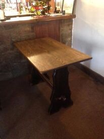 Oak Table 3 ft 6 inch by 2 ft, 29 inch high