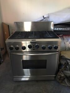 "36"" Kitchen Aid Gas Range"