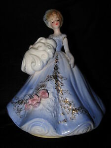 Blue lady musical figurine by Josef London Ontario image 1