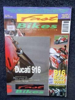 Fast Bikes June 94 V4/I39; Ducati 916 & 600SS, RC45, 900RR, Guzzi