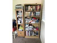 1800High Bookcase Oak MFC
