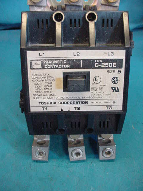 Toshiba Size 5 Contactor Cat C-250E  98%+ Contacts
