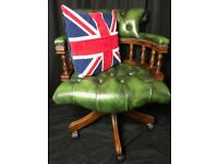 Regency Leather Chesterfield Style Handmade Captains Office