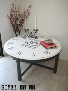 Unique French Vintage inspired Clock Coffee Table ~ Like NEW Varsity Lakes Gold Coast South Preview