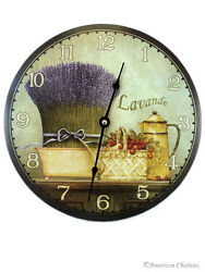 12 French Lavender Hanging Wall Clock Still Life Home Kitchen Decor