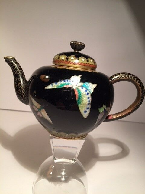 Antique Cloisonne  Meiji Period JapaneseTeapot