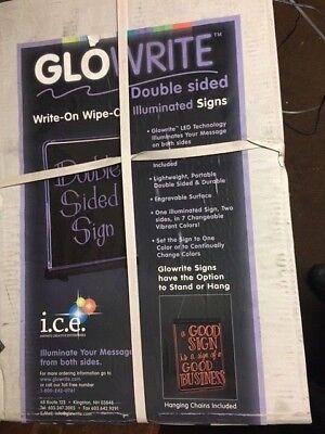 Glowrite Led Illuminated Sign 12 X 18 Double Sided Write On Wipe Off Board