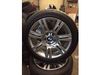 bmw 3 series genuine sport wheels with run flat tyres!! £195.00