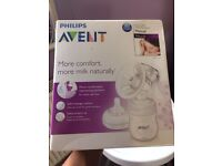 BRAND NEW!! Philips Avent Breast Pump, manual