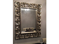 EXTRA LARGE CLASSY ORNATE FRAMED MIRROR 1 YR OLD EXCELLENT NEW CONDITION PICK UP ONLY