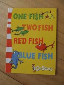 Dr Seuss One Fish Two Fish Red Fish Blue Fish Paperback Book
