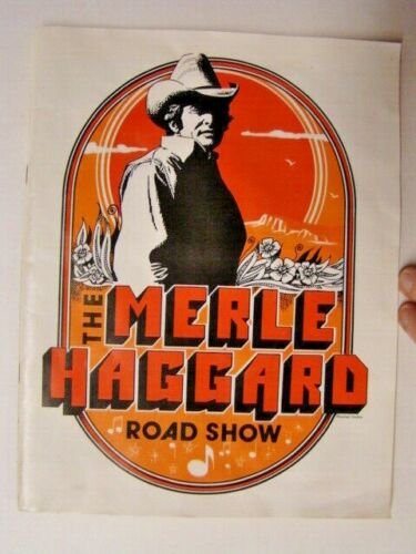 """Vintage """"The Merle Haggard Road Show"""" Country Music Concert Program"""