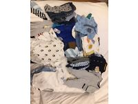 LARGE BABY CLOTHES BUNDLE - 0-6 Months Baby Clothes (Ideal for boys but lots of unisex)