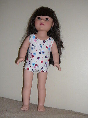 """Flowered/White Swimsuit  for 18"""" Doll Clothes American Girl"""
