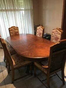 Extendable Timber Dining Table with 6 Chairs Leppington Camden Area Preview