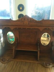 antique walnut organ top