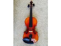 3/4 Violin Set for a 'serious' beginner / HORA Reghin / -- NEW as used only for 1-2 hours!
