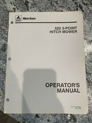 Agco New Idea 522 3-point Hitch Mower Operators Manual Catalog Book Sku-g
