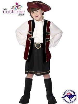 GIRLS PIRATE Captain Costume Captain Hook Buccaneer Fancy Dress AGE 4-9 - Captain Hook Costume For Girls
