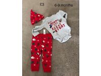 BN No Tags Unisex baby girls/boys 6-9 months christmas (xmas) outfit