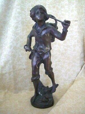 Antique vintage french spelter figure ~ 14