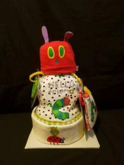 The Very Hungry Caterpillar Inspired Nappy Cake - Baby gift