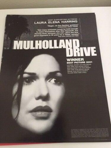 Mulholland Drive David Lynch Laura Elena Harring  OSCAR AD