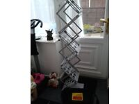 Heavy duty steel portable cantilever A4 display stand like new