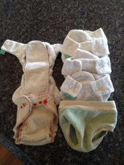 Ecofriendly Modern Cloth Nappies -  Bamboo Nappy/WoolCover Bundle