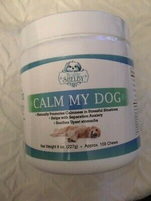 Dog Calm My Dog Chews Anxiety Stress Upset Stomach 100 Chews Relax Natural