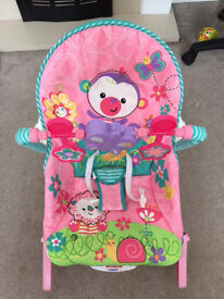 Fisher Price Rainforest Infant to Toddler Rocker in Pink