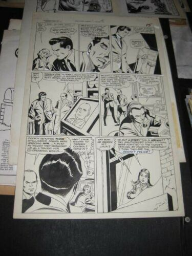 GIL KANE-Original Art-Thunder Agents#16-Pg 15-1965-One of Our Androids is Missin