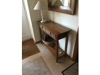 Console Table and Matching Wall Mirror