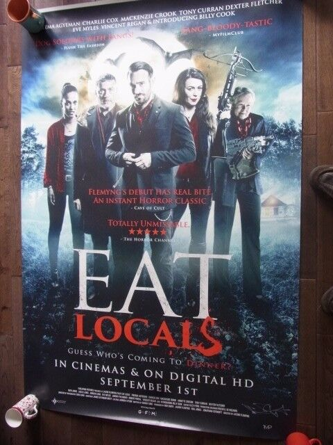 Eat Locals Signed Poster By Jason Flemyng. New Condition