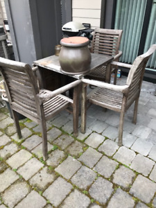 Harwood Table and 3 chairs
