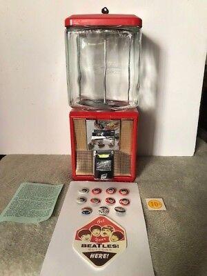 VTG The Beatles Northwestern Gumball Machine W/ Key and Orig. Box (PLUS BONUS)