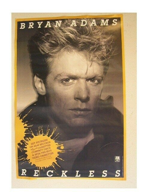 Bryan Adams Poster Reckless Old