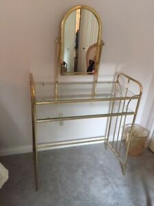Brass makeup vanity