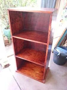 3 shelf Jarrah finish bookshelf Woodcroft Morphett Vale Area Preview