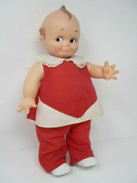 """Vintage Kewpie Cameo #6 Doll w/Original Red Outfit, 15"""" Tall, Initialed, 11-7-67"""
