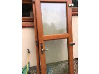 Almost new wood look external UPVC door and frame