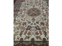 "large carpet rug traditional design 6' 3"" x 9' 4"""